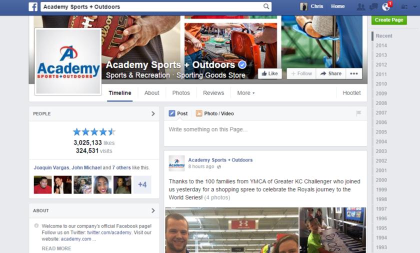 Academy Sports facebook